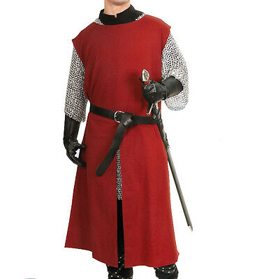 Burgundy Tunic, Knight, LARP, S/M, L/XL, Strong Cotton Twill, Fantasy, Theater