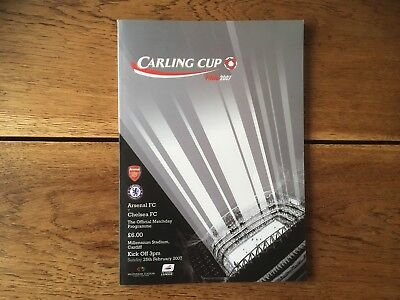 Arsenal v Chelsea Carling Cup Final 2007 Programme Mint Condition