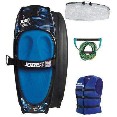 Jobe Streak Kneeboard Pack Blue Inc Carry Bag Rope Life Vest
