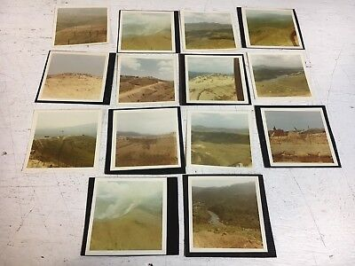 Vietnam Fire Base Photograph Pictures Album Lot B x14 Hilltop Scenes Smoke Water