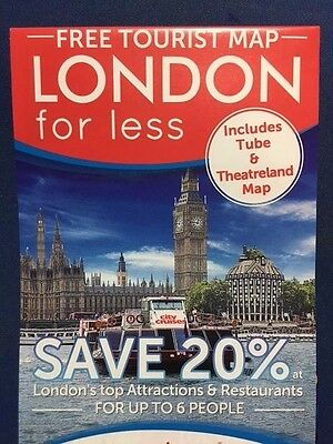 2017 Tourist Map Of London - Save 20% At 35 London Attractions & Restaurants