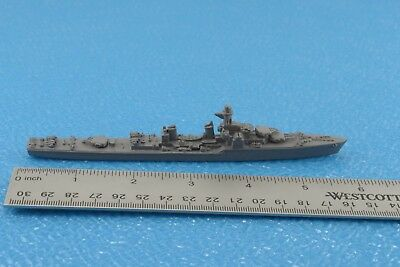 Unmarked Large War Ship Metal 1:1250 Scale (S5)