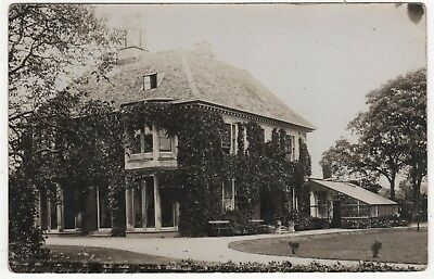S.smith  Real Photo Postcard The Manor, Heckington, Lincolnshire Posted 1910