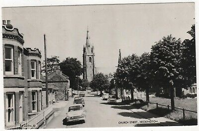Frith's  Real Photo Postcard Church Street, Heckington, Lincolnshire Posted 1972