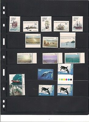 Australian Antarctic Territory Stamps lot all NH with boats, whales