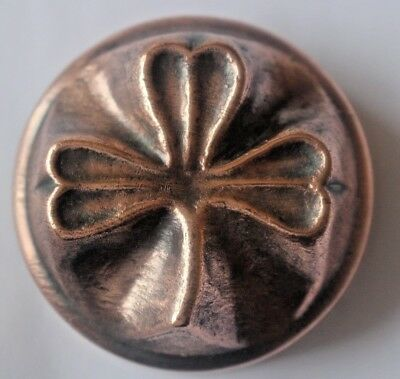 BENHAM AND FROUD COPPER JELLY MOULD NUMBER 193 - THREE LEAF CLOVER or SHAMROCK