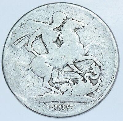 1822 Crown British Silver Coin From George Iiii Vf