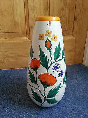 Very Large GOUDA VASE -  Marked on the base - 1274 Flora Gouda Holland Poppy