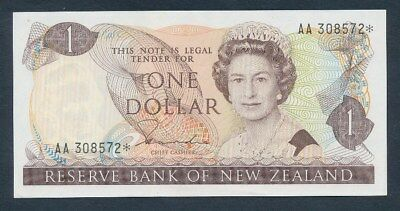 New Zealand: 1981 $1 Hardie Star Prefix AA, UNC Cat $30