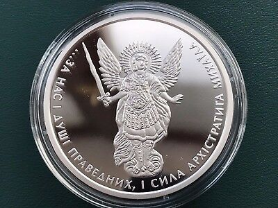 "Ukraine One Hryvnya, ""Archangel Michael"" 1 oz Proof , Silver 2017 year"