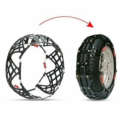 2x Tire Chain of Car SUV Emergency Mud Snow Tire Anti-Skid Security Chains A12