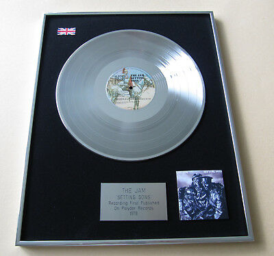 Paul Weller THE JAM Setting Sons PLATINUM LP Disc Presentation