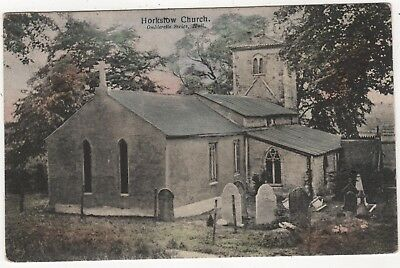 Printed Photo Postcard Horkstow Church, Lincolnshire Posted 1905 To Dusseldorf