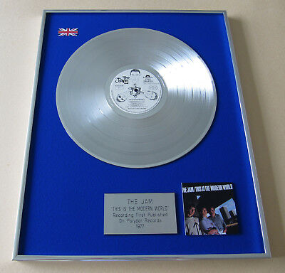 Paul Weller THE JAM This Is The Modern World SILVER LP Disc Presentation