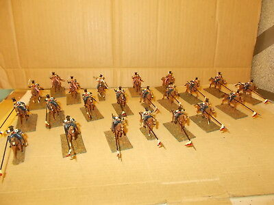 Esci 1.72 Napoleonic French Cavalry Lancers +, 22 Painted Figures See Photos