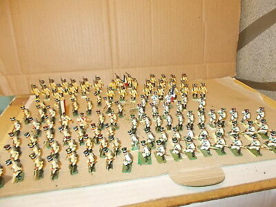 Airfix 1.72 Napoleonic French Line Infantry , 125 Painted Figures See Photos
