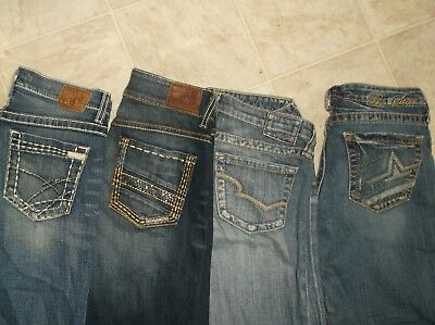 lot 4 BUCKLE BKE jeans distressed flare boot 27 28 29 30 women's maddie big star