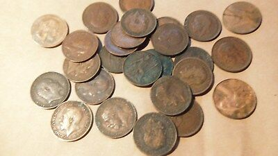 EDWARD VIII,GEORGE V, 25, FARTHING COINS , See Pictures for condition.