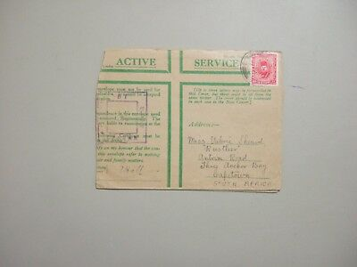 Military ACTIVE SERVICE WWII Egypt censored cover