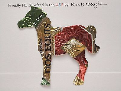 Horse Handmade Christmas Ornament Recycled Aluminum Metal DE Mexican Beer Can
