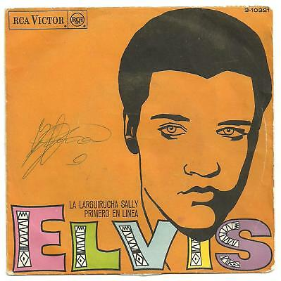 Elvis Presley - Spanish Long Tall Sally single with PS.