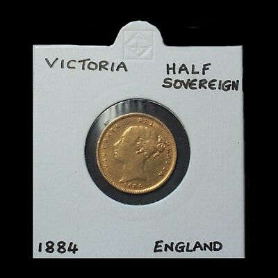 1884 Young Head Gold Half Sovereign