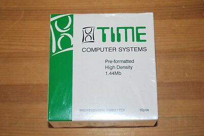 """Time Computer Systems Pre-formatted 3.5"""" - 2HD 2Mb/1.44Mb 10 discs"""