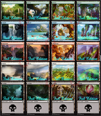 MTG Ixalan XLN Choose your basic foil land - Buy 2 or more and save 10%