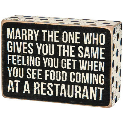NEW Marry The One Wood Box Sign - Weathered & Distressed w/ Decorative Border