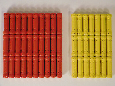 Geomag Mixed Bundle Replacement Spare Rods 51 in Total Yellow and Red