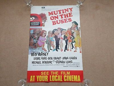 Original MUTINY ON THE BUSES Double Crown Cinema Film / Movie Poster steptoe son