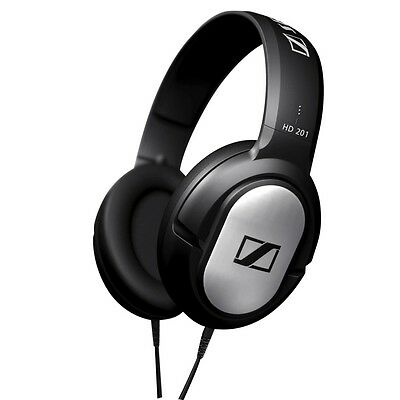 NEW Sennheiser HD201 DJ Overhead Closed Dynamic Stereo Studio Grade Headphones
