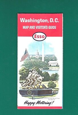 1963 Esso Washington, D.C. Map and Visitor's Guide. Fine Condition.