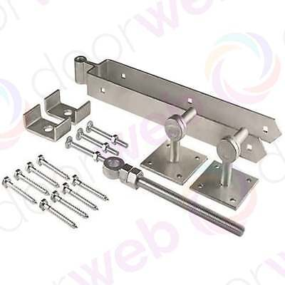 FIELD GATE HINGE Set Adjustable Farm Wooden 5 Bar Gate Band GALVANISED STEEL