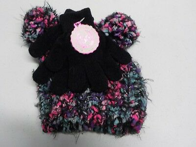 Girls Size Small So Brand Super Soft Spacedye Hat And Gloves Set  New #4633