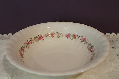 Vtg. Solian Ware Simpsons Potters Cobridge England Floral Weave Bowl 1930-44
