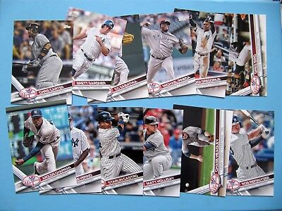 2017 Topps baseball 12x New York Yankees base cards series 2 team set Inc. Bird
