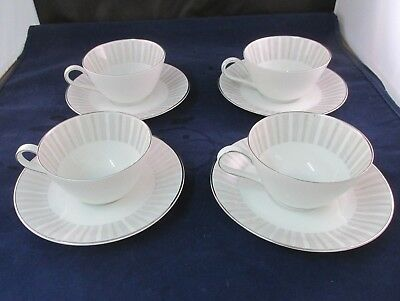 PATTERN NASSAU BY HEINRICH H AND CO.  4 cups 4 saucers LOT