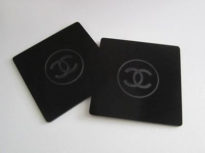 Two Chanel Drink Coasters Acrylic