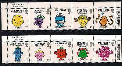 2016 Gb Qeii Royal Mail Mr. Men Little Miss Commemorative Stamp Name Tab Barcode