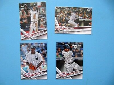 2017 Topps series 2 Baseball Cards 4x New York Yankees Bird Gregorius Severino