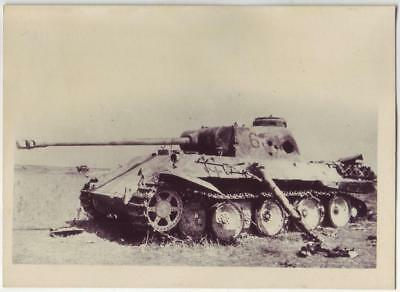 Wwii Photo From Russian Archive: Destroyed German Panzer V Panther Tank
