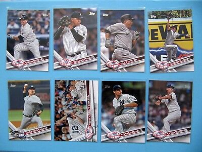 2017 Topps Baseball 8x New York Yankees series 1 base cards