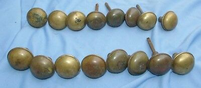 16 Solid Brass Antique matching Doorknobs 3 ounce each knob