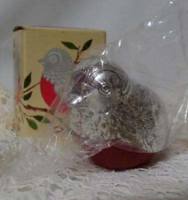 Vintage 70s Avon Robin Red Breast Decanter Bird of Paradise Cologne w Box NIB