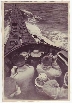 German Wwii Photo From Russian Archive: Kriegsmarine U-Boat On The Move