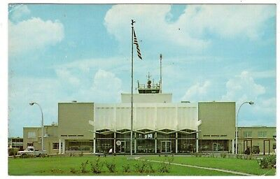 VINTAGE 1960'S KNOXVILLE MUNICIPAL AIRPORT McGHEE TYSON FIELD TENNESSEE POSTCARD