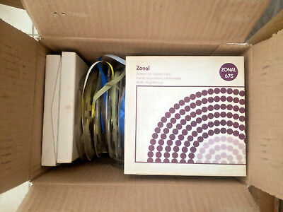 "Professional 1/4"" reel-to-reel recording tape. 2 dozen USED 5"" spools"