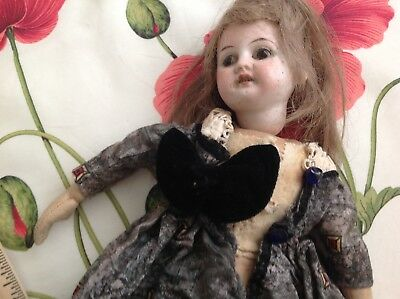 Antique Doll Am 4/0 Dep Paint Wear To Head On Wrong Body