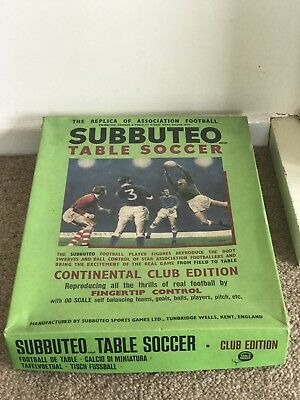 SUBBUTEO Table Soccer Continental Club Edition Vintage Collectible